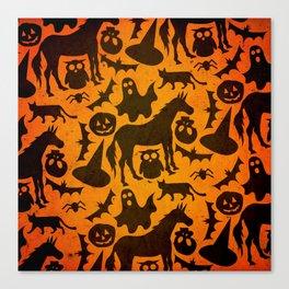 Halloween Spook Unicorn Canvas Print