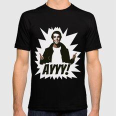 HAPPY DAYS  |  FONZIE  |  AYYY! X-LARGE Black Mens Fitted Tee