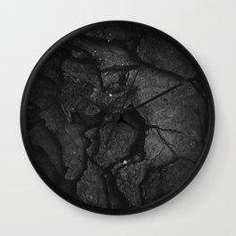 Black Texture (Black and White) Wall Clock