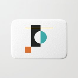 DEK 01// Art Deco & Mid Century Minimalist Illustration Bath Mat