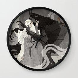 Krampus and Perchta III Wall Clock