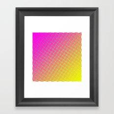 80's grade pink Framed Art Print