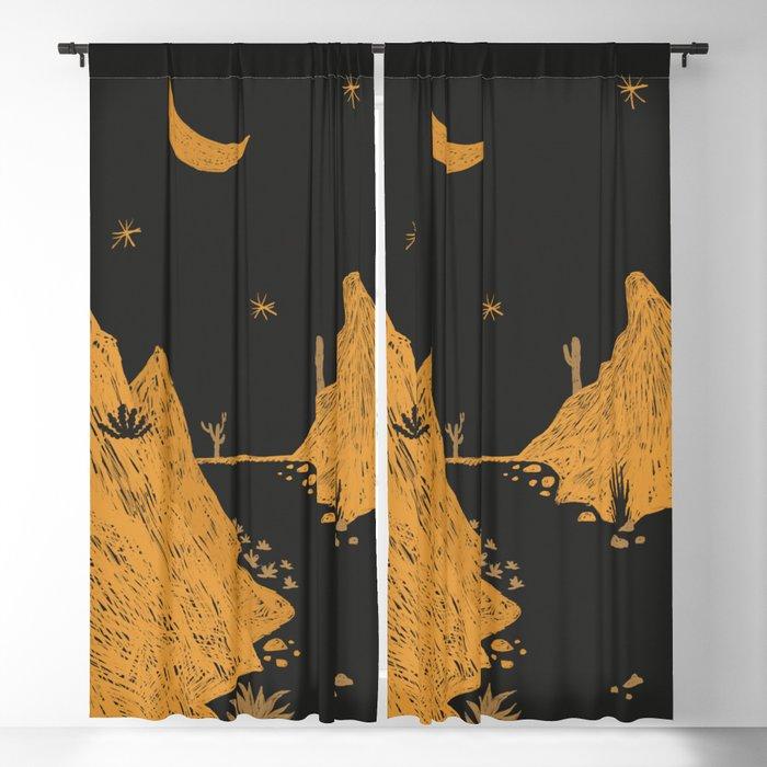 Desert Landscape Blackout Curtain