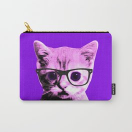 Pop Art Kitten with glasses #5 Carry-All Pouch