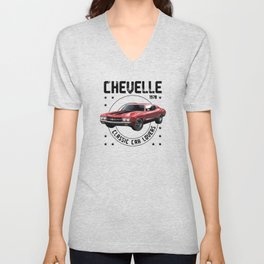 Classic Car Chevelle 1970 Unisex V-Neck