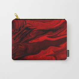 Blood Red Marble Carry-All Pouch