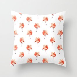 Feathery Friend Pattern Throw Pillow