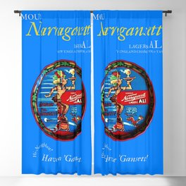 Narragansett Beer Lager and Ale Vintage Poster Advertisement Blackout Curtain