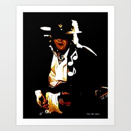 Caught In The Crossfire - SRV - Graphic 2 Art Print
