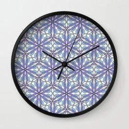 pattern floral purple Wall Clock