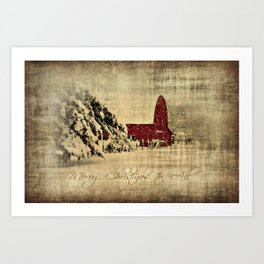 Merry Christmas and Happy Holidays to all! Art Print