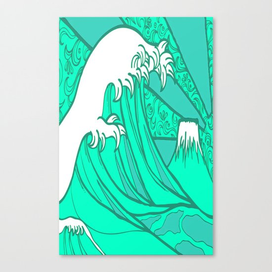 FRESH WAVE AND MOUNTAIN Canvas Print