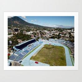 Volcanic Football Art Print