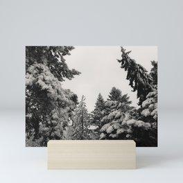 Snow on Trees Mini Art Print