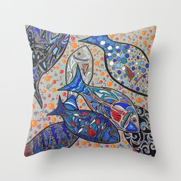JUST SOME FISHES Throw Pillow