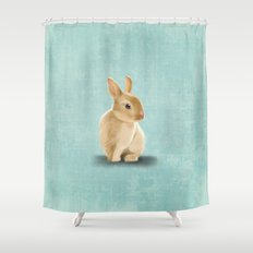 Portrait of a little bunny Shower Curtain