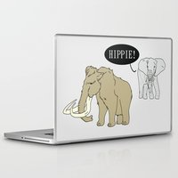 hippie Laptop & iPad Skins featuring Hippie by Digital Sketch
