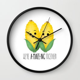 We're A-Maize-ing Together! Wall Clock
