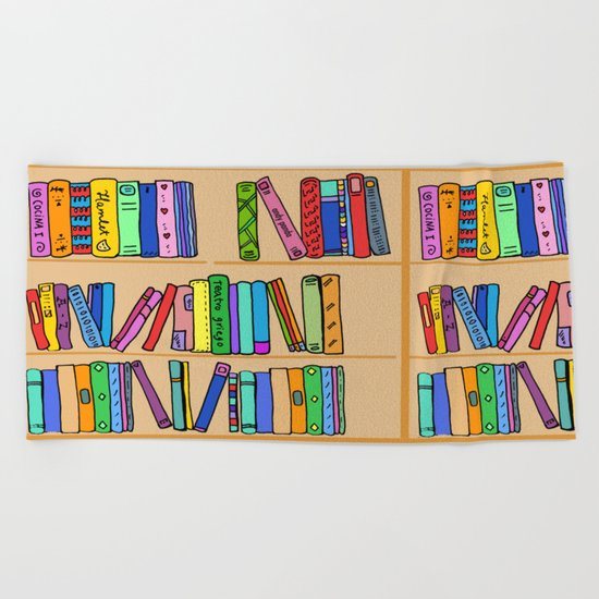 The library Beach Towel