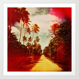 UNTITLED (a road in Tonga) Art Print