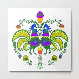 Happy Rooster Metal Print
