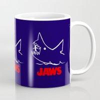 jaws Mugs featuring Jaws by IIIIHiveIIII