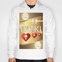 nicki Hoodies featuring Nicki 01 by Daftblue