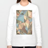 renaissance Long Sleeve T-shirts featuring Renaissance Triangle Pyramids by Suburban Bird Designs