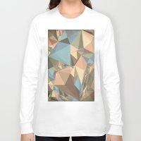 renaissance Long Sleeve T-shirts featuring Renaissance Triangle Pyramids by Kanika Mathur Design