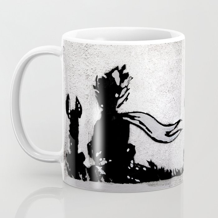 The Little Prince And Fox Stencil For Life Cur Wall Series Coffee Mug By Aro Society6