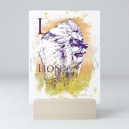 L Lion Mini Art Print