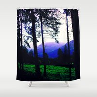 silhouette Shower Curtains featuring Silhouette by Eden Brown