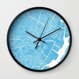 Newark map blue Wall Clock