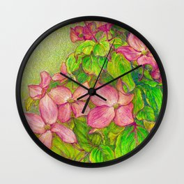 Satomi Dogwood, Pencil Sketch Wall Clock