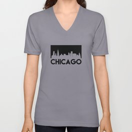 Chicago Skyline Unisex V-Neck