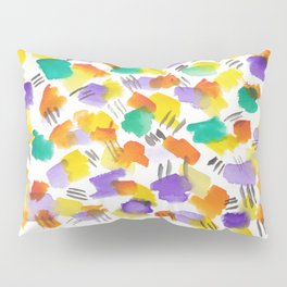 180803 August Abstract 3 | Colorful Abstract | Watercolors Brush Patterns Pillow Sham