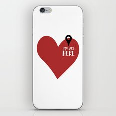 YOU ARE HERE (IN MY HEART) - Love Valentines Day quote iPhone & iPod Skin