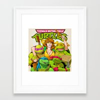 tmnt Framed Art Prints featuring TMNT by Kyle Harlan