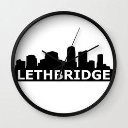 Lethbridge Skyline Wall Clock