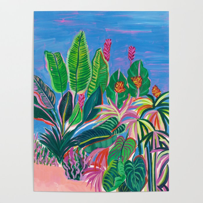Tropical Patio Poster