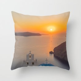 Three Bells Santorini Throw Pillow