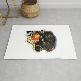 Skull: Homage to Basquiat Rug