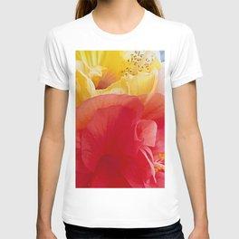 Hibiscus happiness in chiffon T-shirt