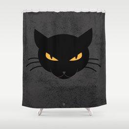 Evil Kitty Shower Curtain