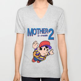 Mother 2 / Earthbound / Super Mario Bros. 3 Style Unisex V-Neck