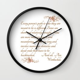 Every Path is Worthwhile Wall Clock