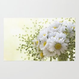 Bouquet of daisies in LOVE - Flower Flowers Daisy Rug