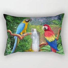 Macaw Tropical Parrots Rectangular Pillow