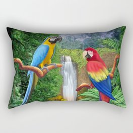 Macaw Tropical Parrots Rectangular Pillow