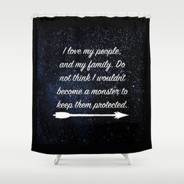 a court of thorns and roses Shower Curtain